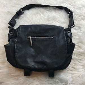 Black leather Walter Baker handbag 10x13.5""